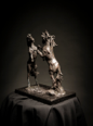 MIM SCALA ~ Fighting Horses - Bronze on black Kilkenny marble - 40 x 35 x 22 cm - edition of 10 #1 - 10 available - from €4800