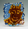 CORMAC BOYDELL ~ Blue Sky Face ceramic 35 x 31 cm - €350 - SOLD
