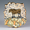 CORMAC BOYDELL ~ The Golden Calf ceramic 26 x 23 cm - €200 - SOLD