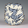 CORMAC BOYDELL ~ Blue Dragon ceramic 26 x 23 cm - €200 - SOLD