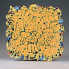 CORMAC BOYDELL ~ Daniel in the Lions' Den ceramic 46 x 48 x 8 cm - €550 - SOLD