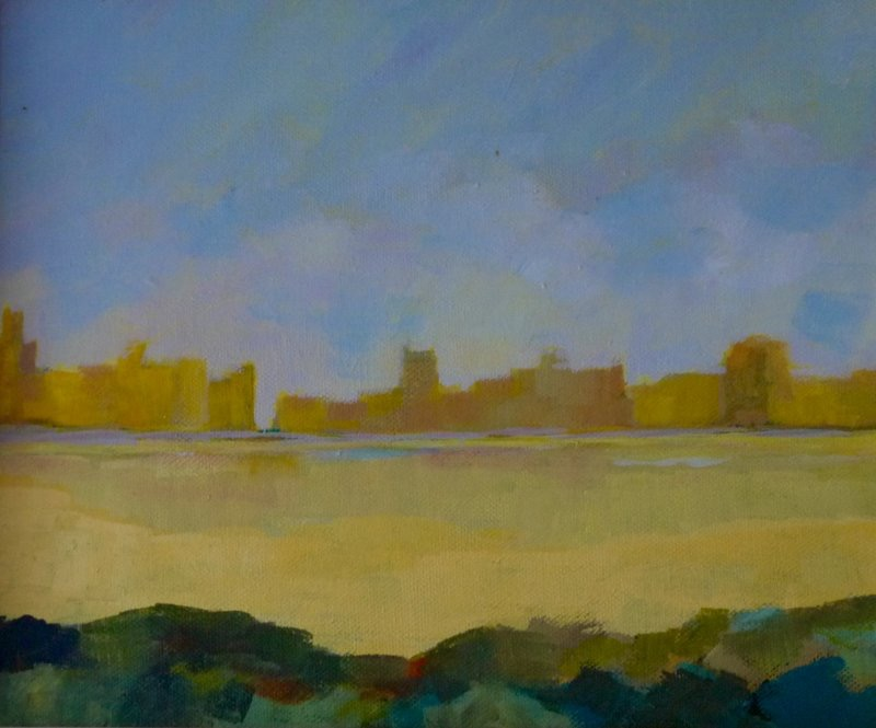 TERRY SEARLE - Across the Water - acrylic on canvas - 26 x 30 cm - €650