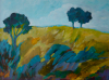 TERRY SEARLE - Blue Trees - acrylic on canvas - 46 x 61 cm - €950 - SOLD