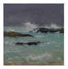 DAMARIS LYSAGHT ~ Heavy Showers, Galley Cove - Oil on Board - 19 x 19 cm