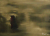 DONAGH CAREY ~ An Tearmann II - Hermitage - oil on board - 23 x 30 cm - €220