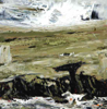 DONAGH CAREY ~ Atlantic Swell - oil on board - 15 x 15 cm - €200 - SOLD