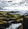 DONAGH CAREY ~ Castle Point I - oil on board - 15 x 15 cm - €200 - SOLD