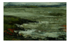 DONAGH CAREY ~ Low Tide Crewe Bay - Oil on Board - 15 x 15 cm