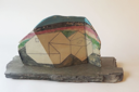 DAVID SEEGER - Enfoldings for Building 1 - ceramic on slate - 28 x 48 cm - €550