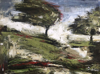 DONAGH CAREY - Orchard - oil on board - 23 x 30 cm - €385