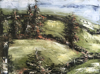 DONAGH CAREY - Towards Ringfort I - oil on board - 23 x 30 cm - €385