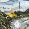 DONAGH CAREY - Yellow House, Gunpoint - oil on board - 14 x 14 cm - €280 - SOLD