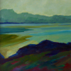 TERRY SEARLE - Evening Landscape - acrylic on canvas - 50 x 50 cm - €950