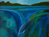 TERRY SEARLE - Head of the River - acrylic on canvas - 36 x 46 cm - €850