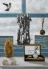 ANGIE SHANAHAN - Shell Souvenir Still Life - Mixed media on gesso - 40 x  29.5 cm - €750