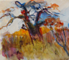 NIGEL H JAMES ~ BAOBAB -mixed water based media on paper - €450