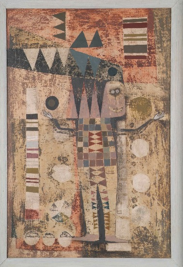 THURLOE CONOLLY 1918-2016 - Juggler, 1953 - oil and mixed media on board - 52 x 33 cm - N.F.S.