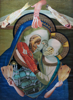 PAUL FORDE-CIALIS - The Mother Incarnate & The Baby Cheesus - collage - €450