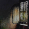 JANET MURRAN - The Good Room - charcoal, acrylic, photo tansfer& beeswax on paper - SOLD