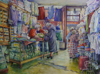 ANN MARTIN - O'Brien's Haberdashery, Skibbereen, Cork 2001 - watercolour on rag - 54 x 72 cm - €4600