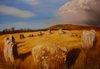 KEITH PAYNE - Ri Na Scrin Stone Circle - Oil on canvas - 80 x 120 cm - €2000
