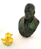 HOLGER LÖNZE - Edward's Wee Duckie - Bronze, vinyl rubber & 24ct gold - €1200
