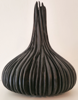 KIERAN HIGGINS - Oak Bottle Form - ebonized with external carving - €675