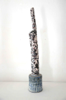 JIM TURNER ~ Coloured Bottle Form - volcanic glaze - €280