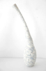 JIM TURNER ~ White Bottle Form - volcanic glaze - €190