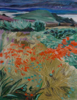 JACQUELINE STANLEY ~ Montbretia in West Cork - oil on canvas - 49 x 39 cm - €850