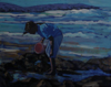 FIONA POWER ~ Periwinkle Picker - acrylic on canvas - 25 x 20 cm - €280