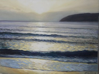 JULES THOMAS ~ Late Light, Mizen Head - oil n canvas - 60 x 68 cm - €950