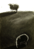 MARTA SWIERAD ~ Sheep in the Morning - charcoal on paper - 42 x 30 cm - €220