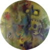 TERRANCE KEENAN ~ #1 Searching for the Ox - spray enamel on special paper - 90cm diameter - €1700