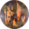 TERRANCE KEENAN ~ #3 Perceiving the Ox - spray enamel on special paper - 90cm diameter - €1700