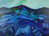 TERRY SEARLE ~ Blue Rocks - acrylic & paper on canvas - 46 x 61 cm - €600 - SOLD