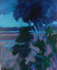 TERRY SEARLE ~ By the Lake II - acrylic on canvas - 39 x 46 cm - €500