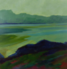 TERRY SEARLE ~ Evening Landscape - acrylic on canvas - 50 x 50 cm - €550