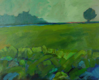TERRY SEARLE ~ Green Field - acrylic on canvas - 41 x 51 cm - €500