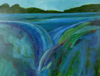 TERRY SEARLE ~ Head of the River - acrylic on canvas - 36 x 46 cm - €400