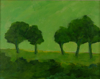TERRY SEARLE ~ Trees Evening - acrylic on canvas - 24 x 30 cm - €250