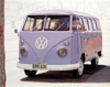 JOHN DOHERTY ~ VDUB Kombi I - acrylic & pencil on gesso panel - 20 x 25 cm - €2400