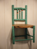 ALISON OSPINA ~ Painted Child's Chair - hazel with elm seat - €175