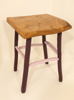 ALISON OSPINA - Purple painted stool elm top - €240