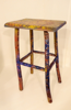 ALISON OSPINA - Greenwood Stool - handpainted  by PAT CONNOR - €300