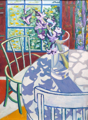 ALYN FENN ~ Hyacinth & green chair - oil on canvas - 62 x 46 cm - €360 - SOLD