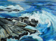 ALYN FENN ~ Rocks - oil pastel on paper - 30 x 42 cm - €225