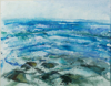 ALYN FENN - Sea and Rocks 1 - mixed media on paper - 40 x 50 cm - guide price - €100
