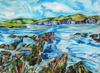 ALYN FENN ~ Seascape IV - oil pastel on paper - 30 x 42 cm - €225