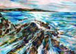 ALYN FENN ~ Seascape V - oil pastel on paper - 30 x 42 cm - €225